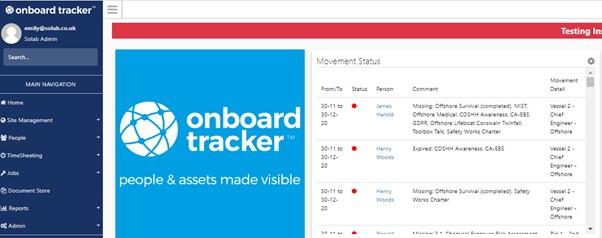 Onboard Tracker Update